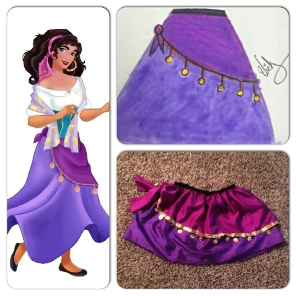 best Esmeralda costume ive seen yet, especially the shirt ... |Diy Esmeralda Costume