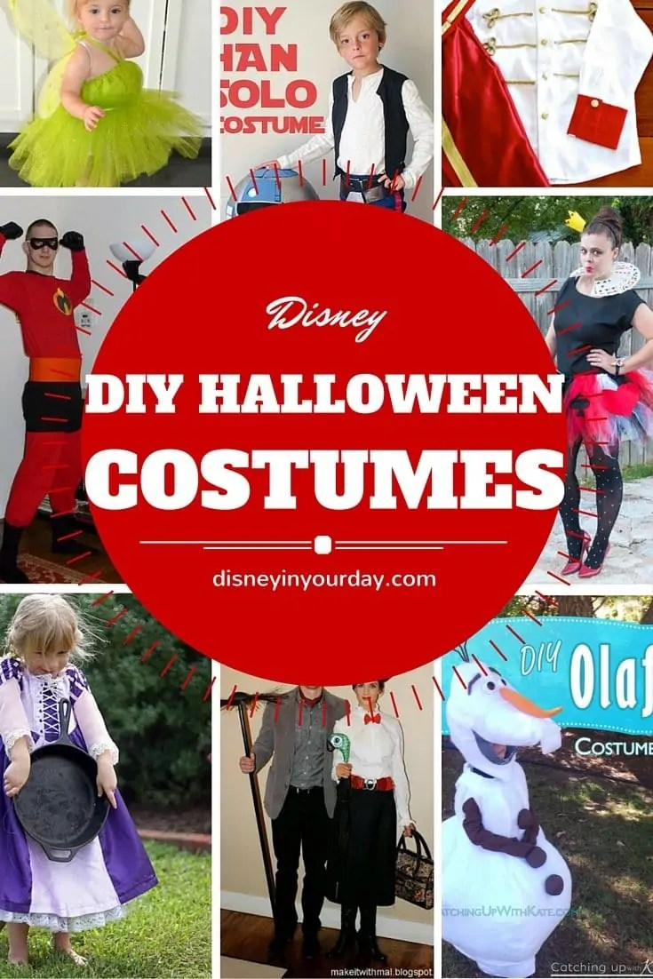 disney diy halloween costumes - disney in your day