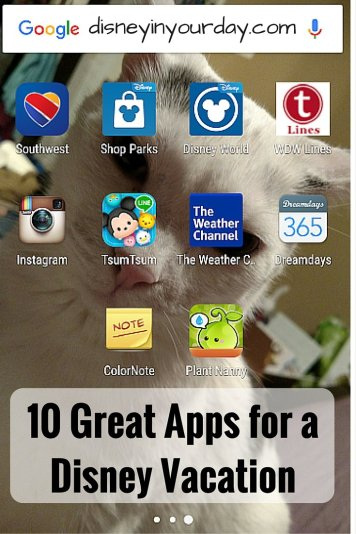 10 Great Apps for a Disney Vacation