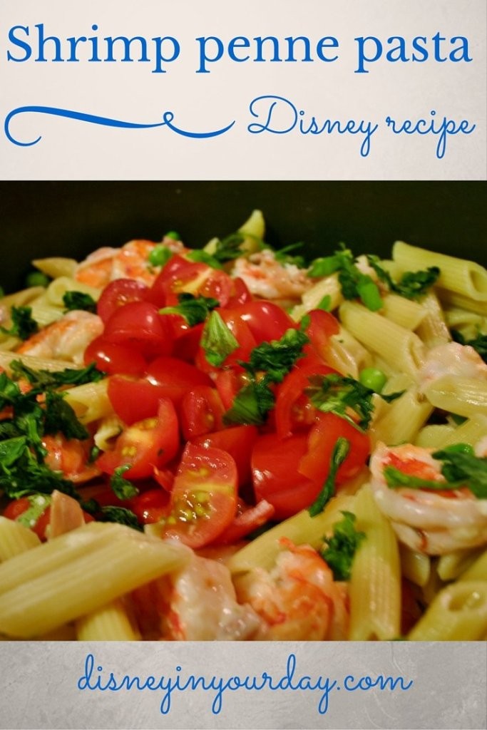 Shrimp and Penne Pasta recipe from the Grand Floridian Cafe