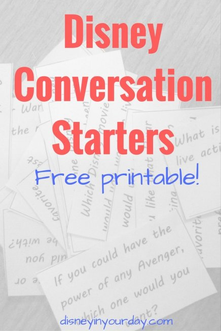Disney Conversation Starters - Disney in your Day