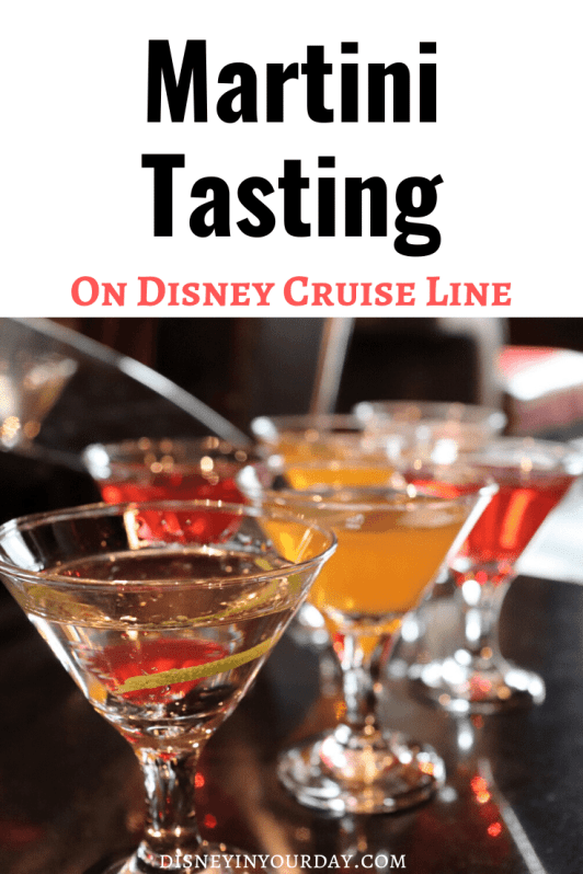 Martini tasting - Disney in your Day