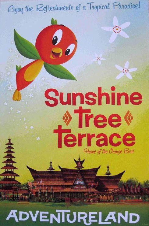 Disney's orange bird and Sunshine Tree Terrace in Adventureland poster