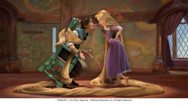 Rapunzel y Eugene en Tangled