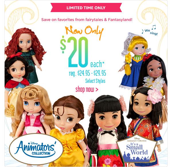 Las Muñecas de Animators' Collection están a la Venta - DisneylandiaalDia.com