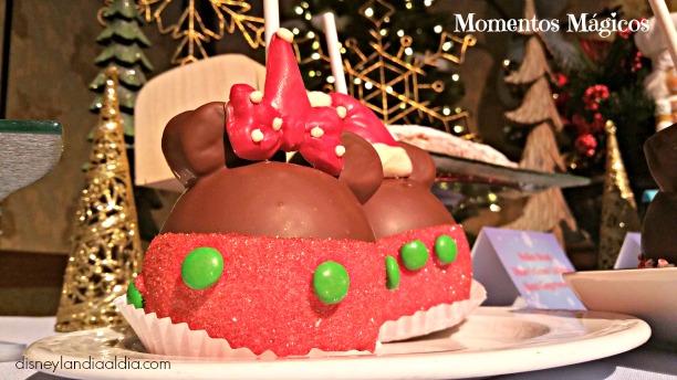 Manzanas de Navidad en Disneyalndia