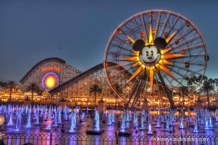 Rueda de Furtuna en Disney California Adventure- Disneylandia
