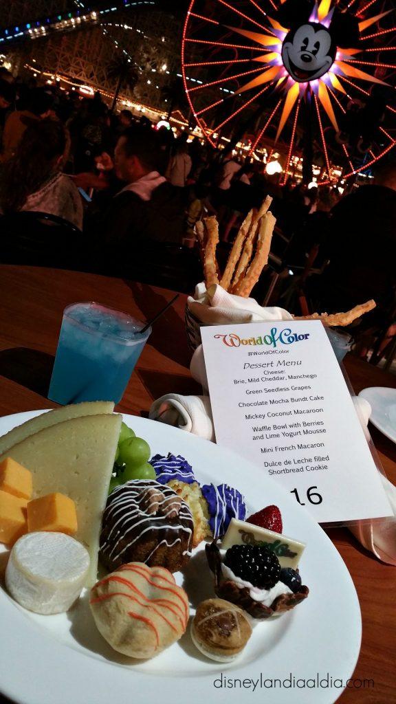 World of Color Dessert Party en Paradise Park en Disney California Adventure