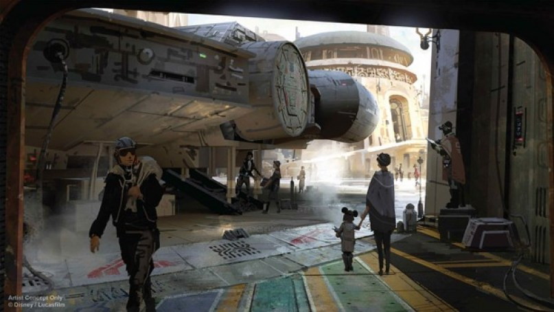 Millennium Falcon en Star Wars Land