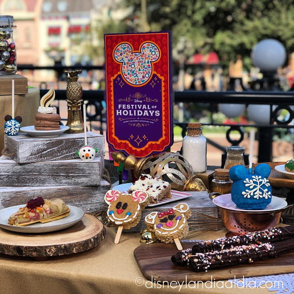 Postres de navidad en Disneylandia y Festival of Holidays
