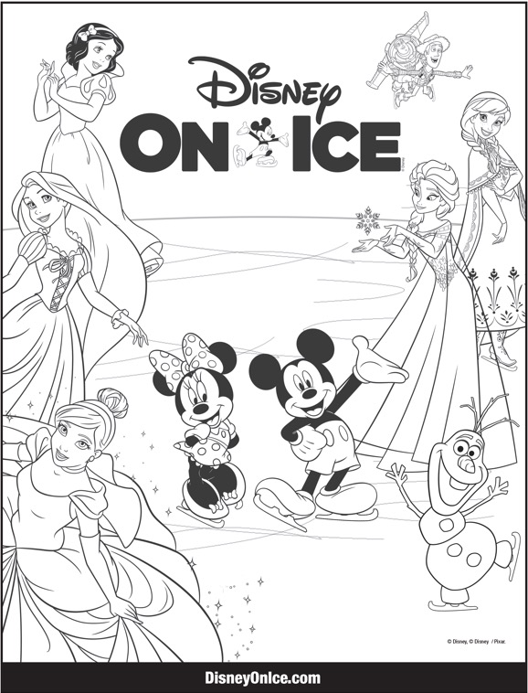 Coloring Pages Disney On Ice