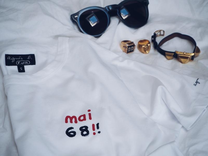 Agnes b mai 68 t-shirt white
