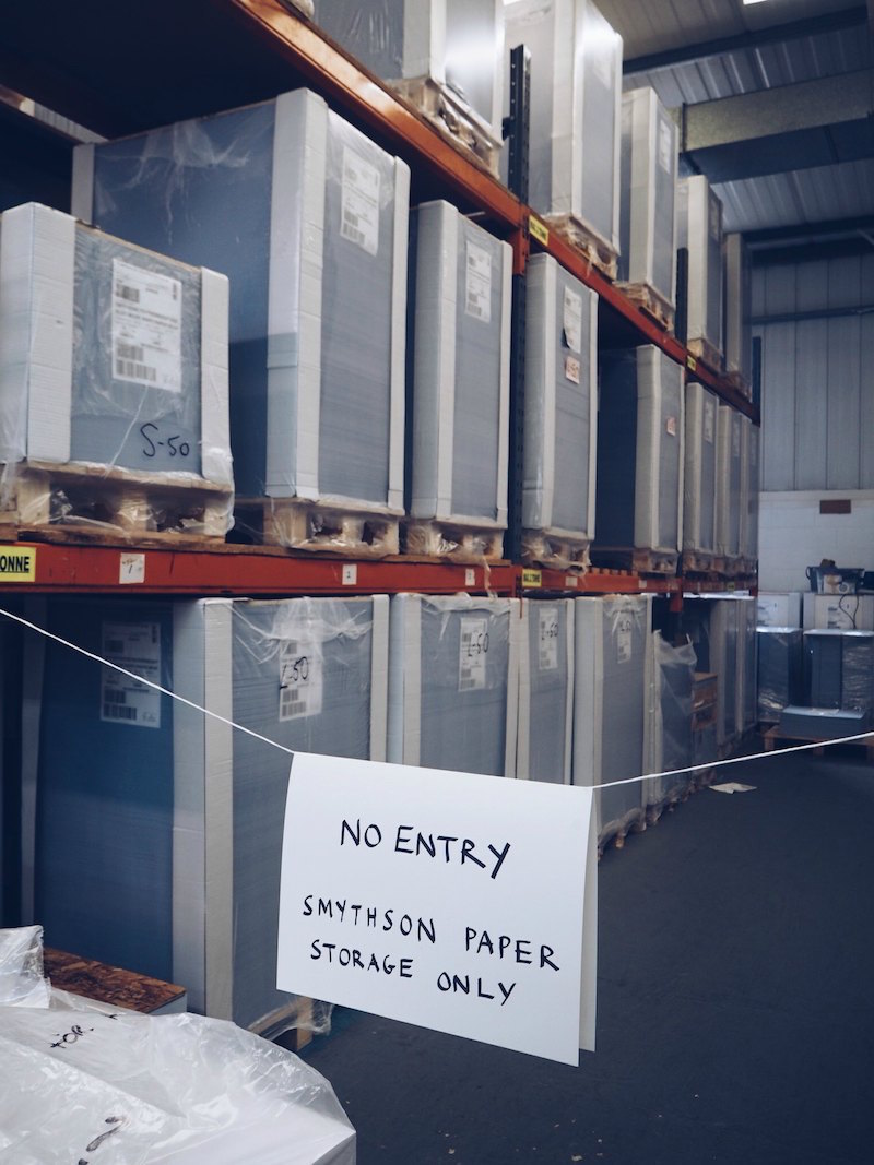 paper being stored at the smythson bookbinding workshops