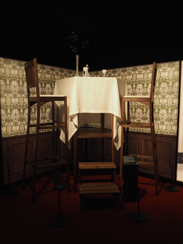 Alberto Santos-Dumont elevated dining at the exhibition Cartier in Motion at The Design Museum 2017
