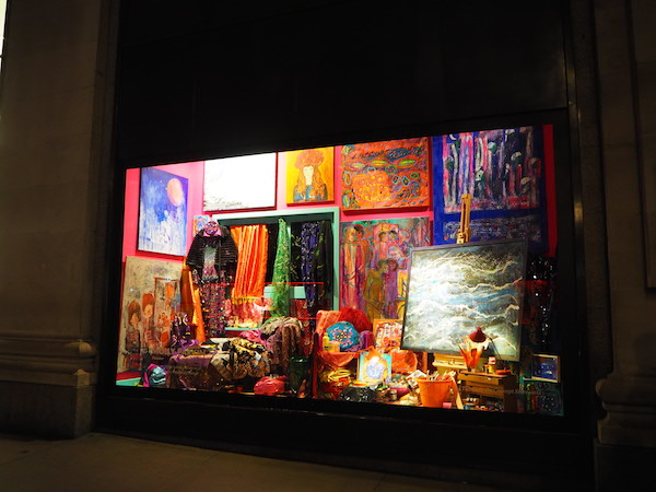 Molly Parkin's 'Bright Old Things' window