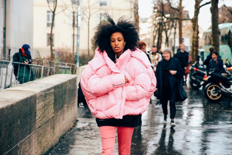 padded jacket by Chen Peng in teen vogue