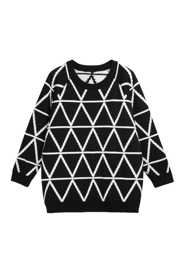 3 All over triangle aran black:ecru – Chinti and Parker meets Patternity - £420