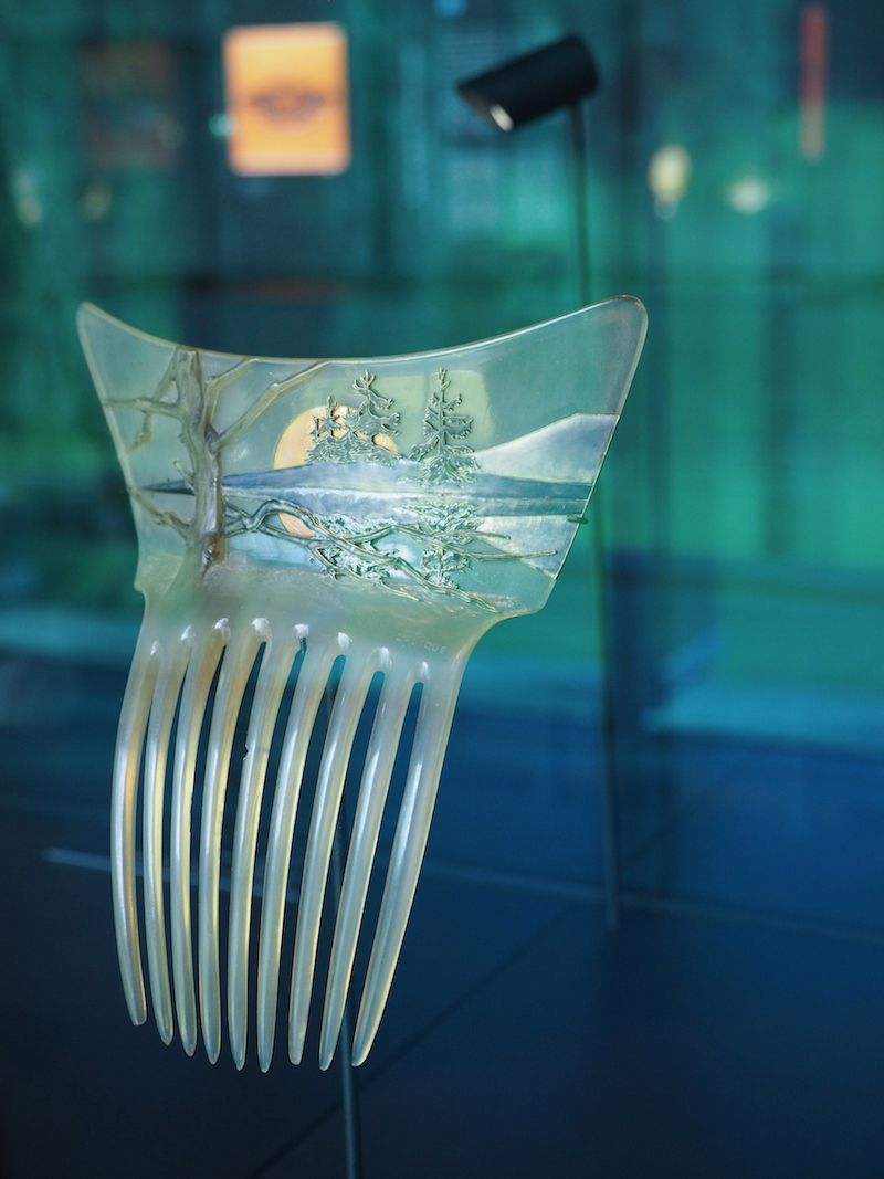 Lalique hair comb at the Lalique Museum in Alsace