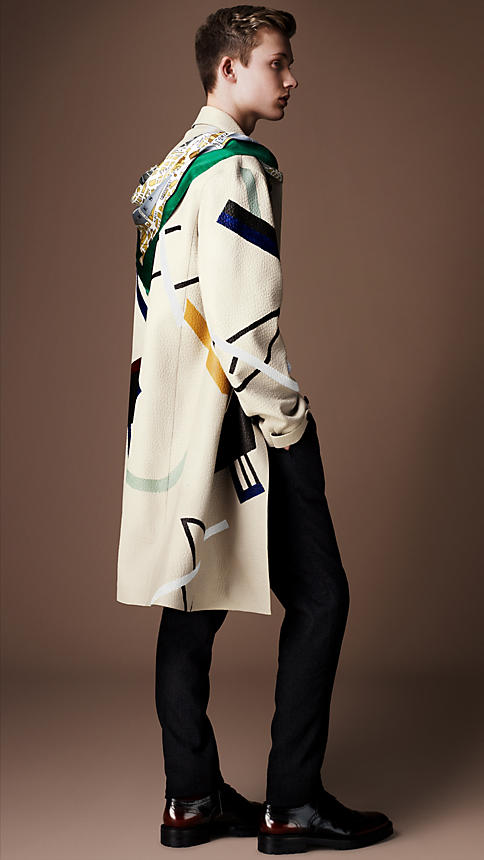 Burberry-Aw14-Hand-painted-caban-coat