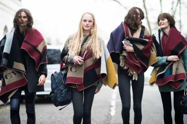 Burberry monogramed blanket poncho