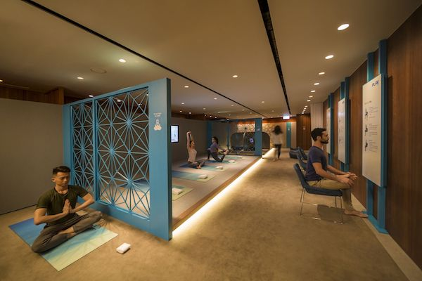 Cathay Pacific yoga and meditation