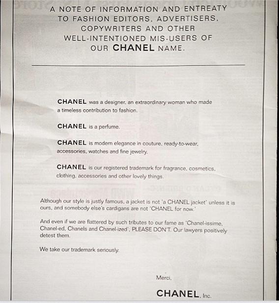Chanel-warning-intellectual-copyright