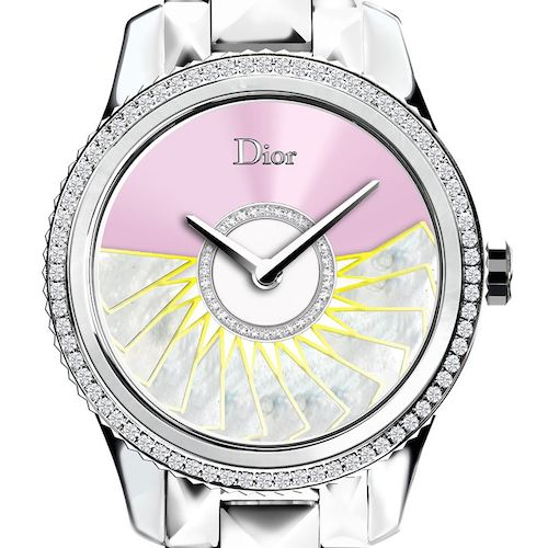 DIOR-VIII-GRAND-BAL-PLISSE-SOLEIL-STEEL-MOP-AND-DIAMONDS-36MM STEEL BRACELET Front large