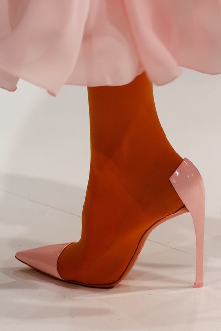 The Dior comma heel reimagined by Raf Simons for Dior Couture SS13