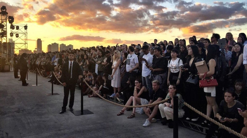 At the Givenchy ss16 show 820 tickets were allocated to the public