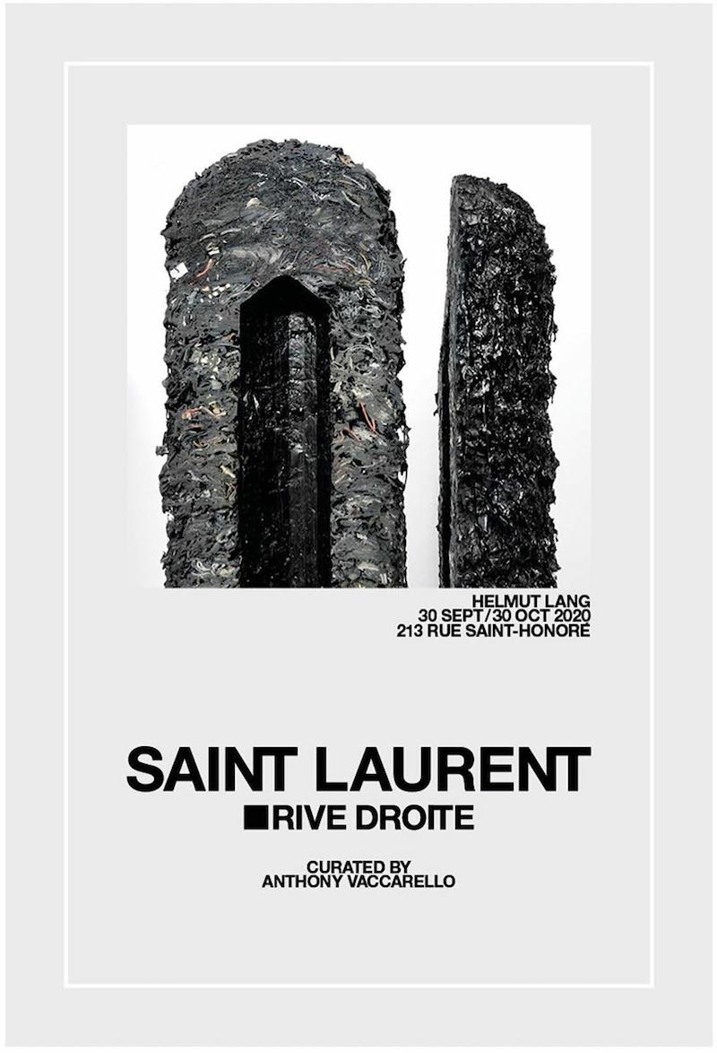 Helmut Lang X Anthony Vaccarello for Saint Laurent Rive Droite
