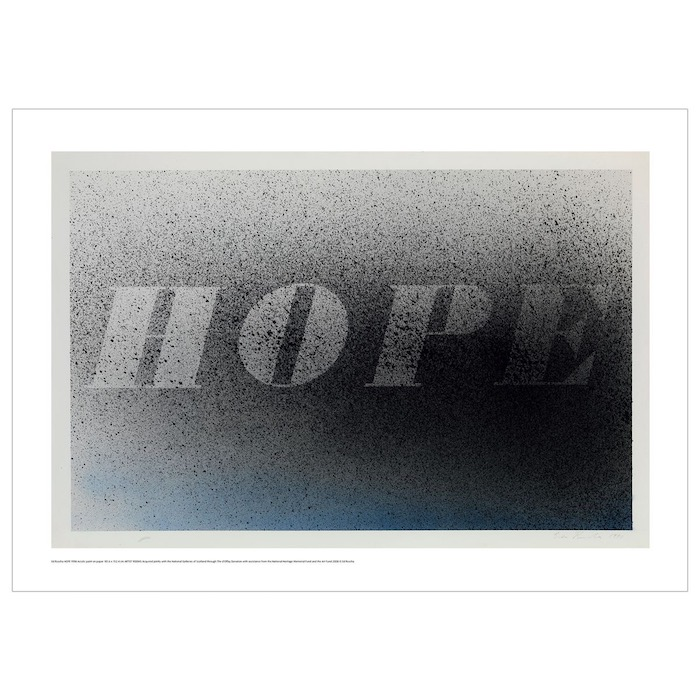 Hope Ed Ruscha poster