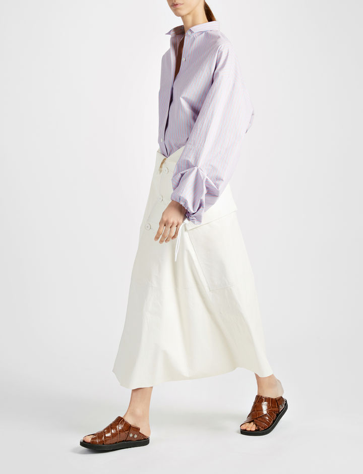 JOSEPH Stripe Single Cotton Sino Blouse