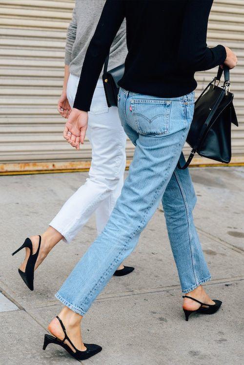 Levis 501 and heels