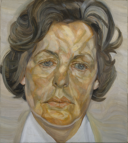 Lucian Freud Woman in a White Shirt, portrait of the Duchess of Devonshire
