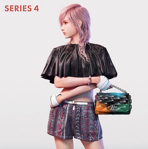 Louis Vuitton Final Fantasy Lightning Square Enix