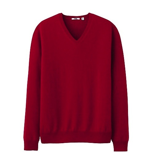 Uniqlo-cashmere-mens red