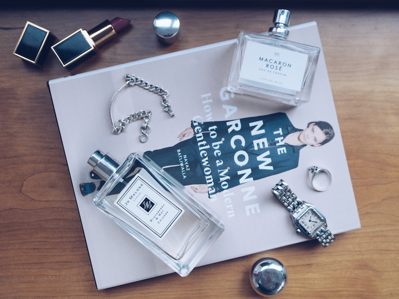How to build a fragrance wardrobe - Weekend fragrance Jo Malone Blackberry & Bay and Urban Outfitters Macaron Rose