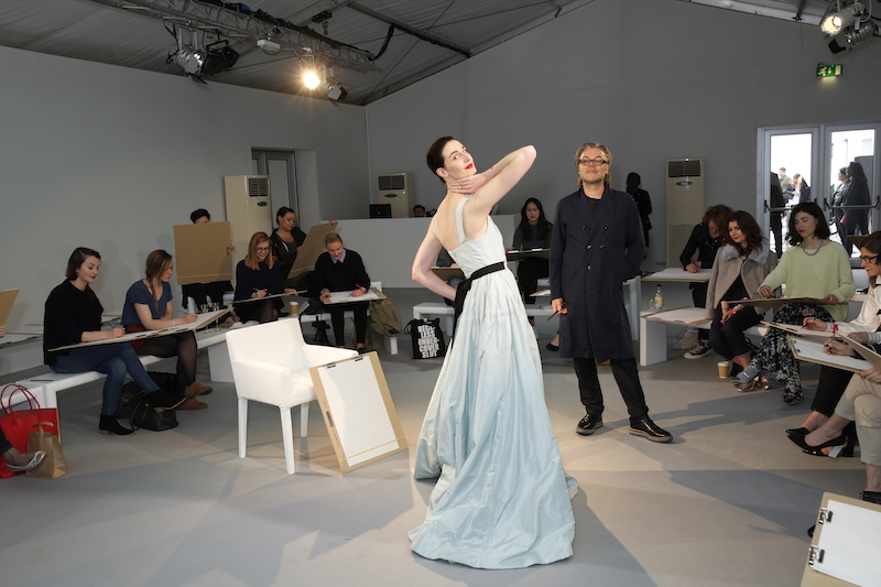 Vogue Festival David Downton drawing class - erin O'connor -photo by Darren Gerrish