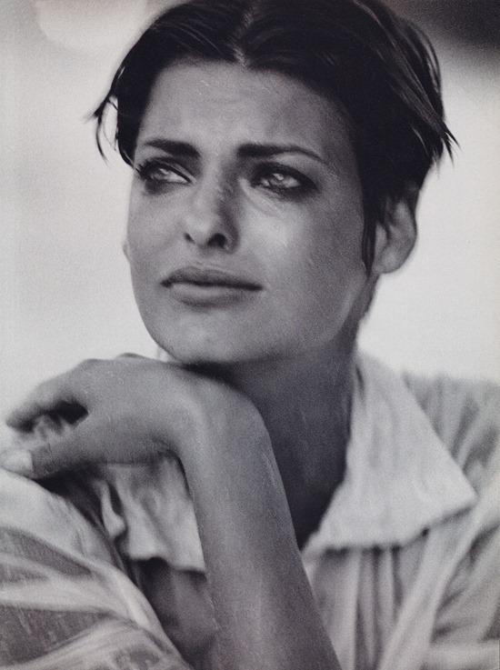 Imperfect beauty - Linda Evangelista by Peter Lindbergh