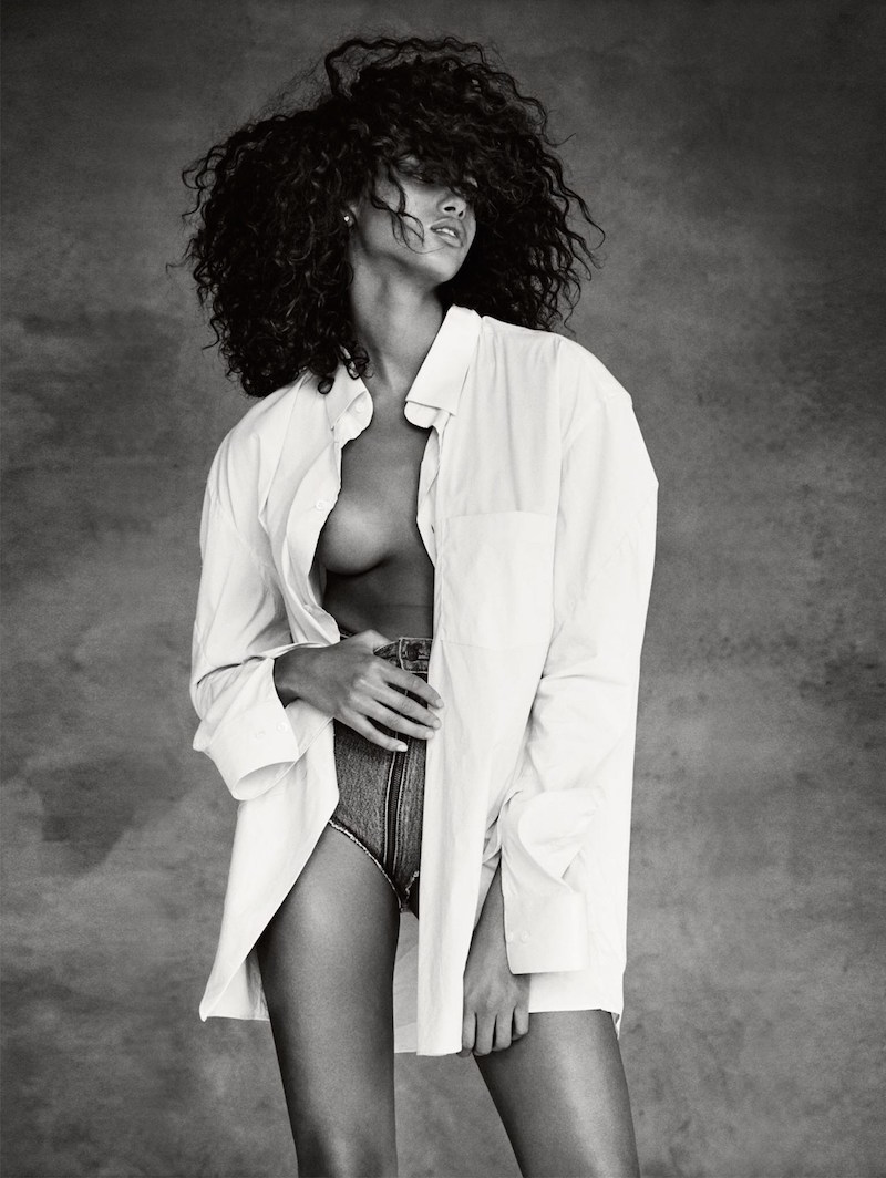 Imaan Hammam by Patrick Demarchelier for UK Vogue