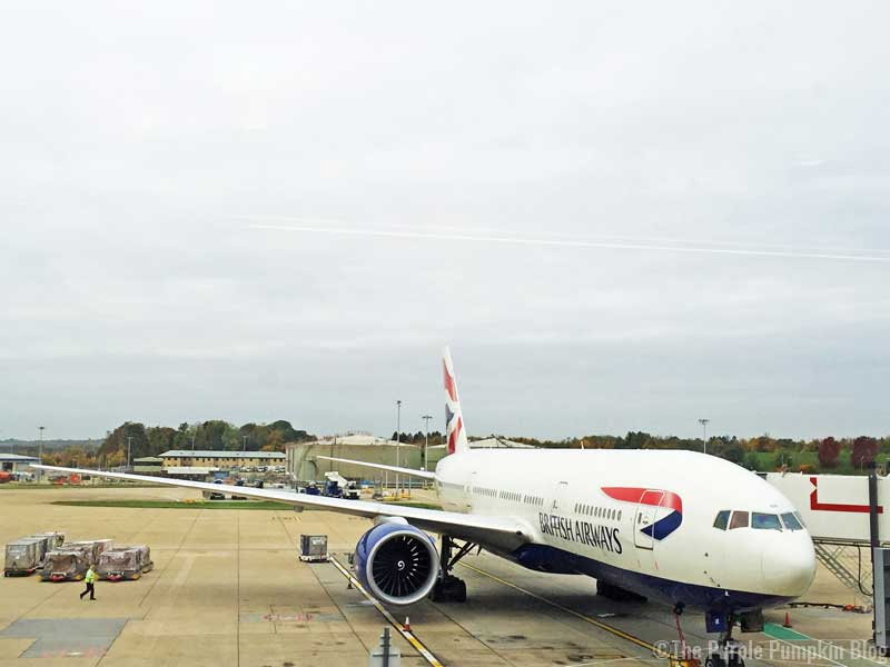 British Airways Aeroplane - Gatwick to Orlando, Florida (MCO)