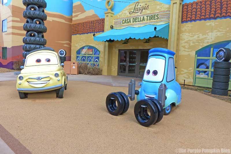 Disney's Art of Animation Resort - Cars Courtyard - Luigi & Guido Model