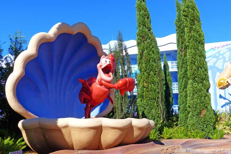 Disney's Art of Animation - The Little Mermaid Courtyard - Sebastian Statue