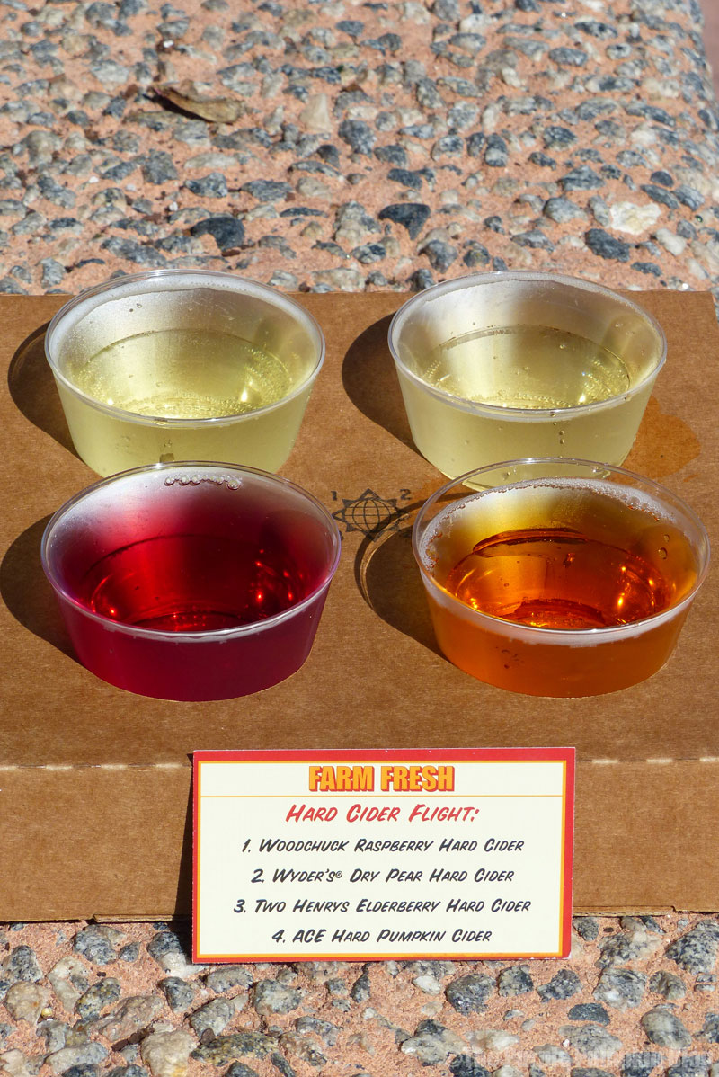 Epcot Food & Wine Festival 2015 - Hard Cider Flight