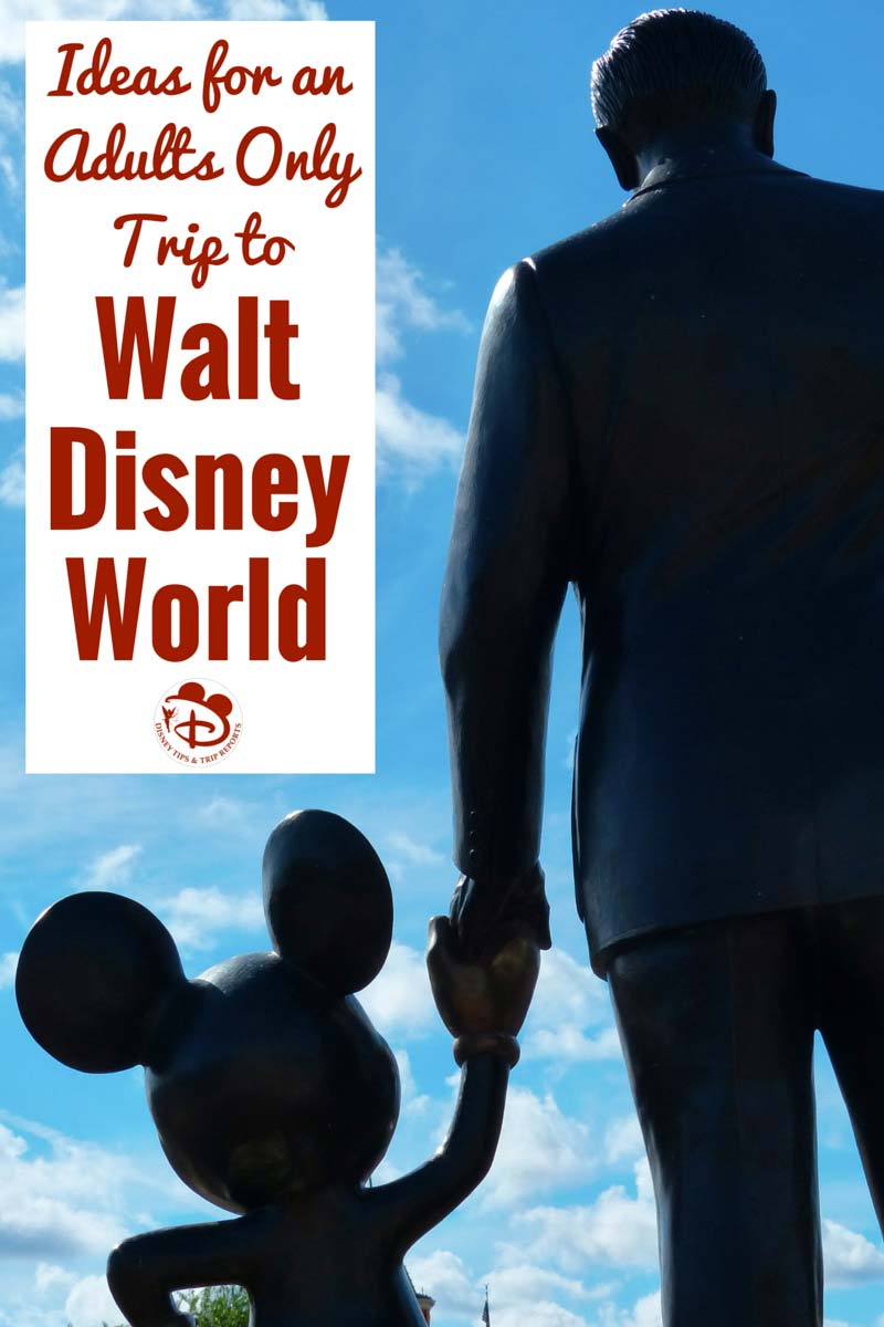 Ideas for an Adults Only trip to Walt Disney World. Disney isn't just for kids! If you are thinking about taking an adults-only vacation to Walt Disney World, check out this great article for lots of great ideas of things to do!