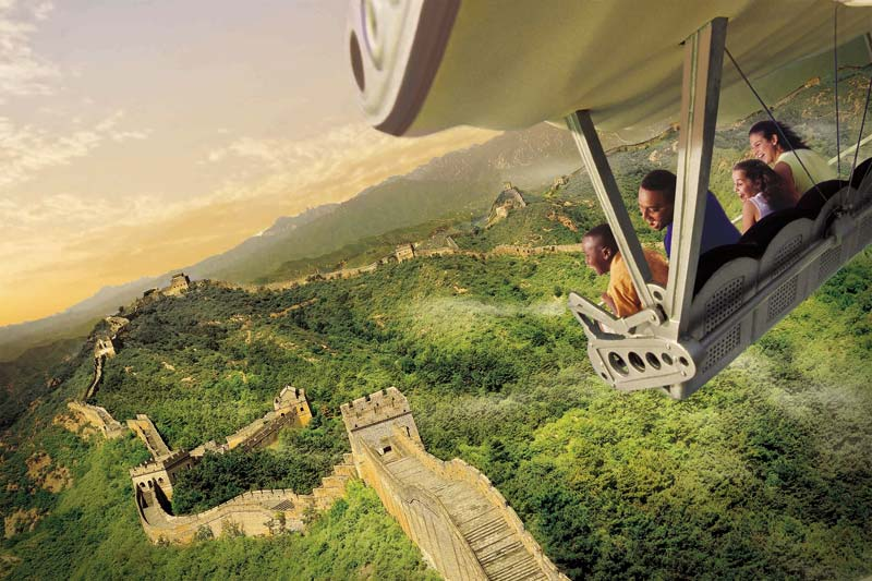 Soarin' at Epcot - Great Wall