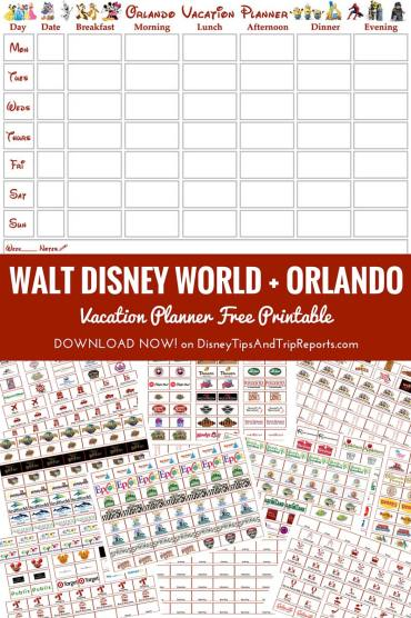 FREE PRINTABLE Walt Disney World + Orlando Vacation Planner - Week-To-View Calendar + 150+ Labels!. This is the motherload of Disney planners!