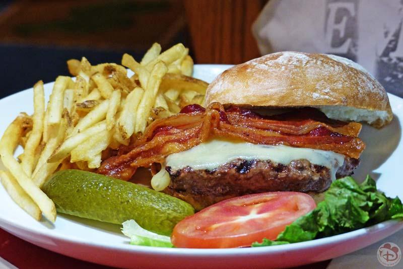 Bacon Cheese Angus Burger - Whispering Canyon Cafe