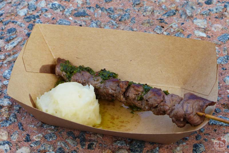 Grilled Beef Skewer - Patagonia Booth - Epcot Food & Wine Festival 2015