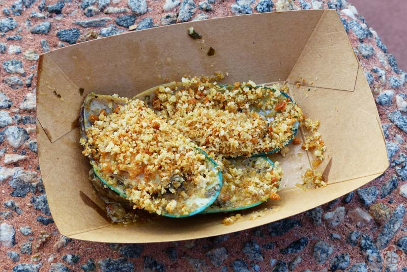Steamed Green Lip Mussels - New Zealand Booth - Epcot Food & Wine Festival 2015